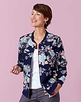 Printed Soft Bomber Jacket