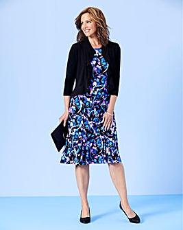Floral Print Dress & Shrug L39