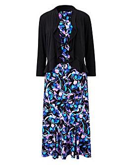 Floral Print Dress & Shrug L45