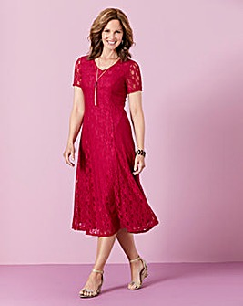 Lace Dress with Necklace l45in