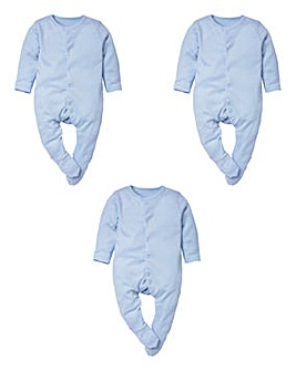 Lollipop Lane 3 Pack Sleepsuits