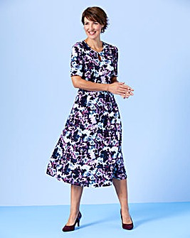Slimma Floral Print Dress L45 in