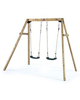 Plum Wooden Double Swing