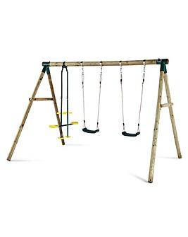 Plum Colobus Wooden Pole Swing Set