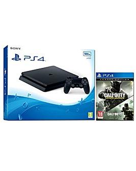PS4 Slim 500gb Black COD Legacy Edition