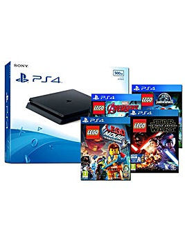 PS4 Slim 500gb  4 LEGO Games