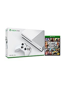 Xbox One S 500gb White Console  GTA V