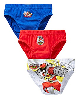 Power Rangers Pack of Three Briefs