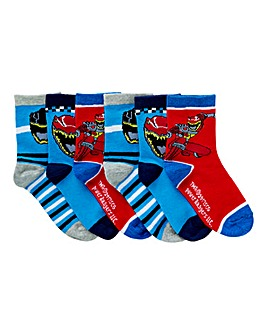 Pack of six Power Rangers Socks