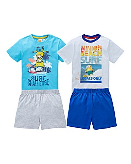 Boys Pack of Two Minions Pyjamas