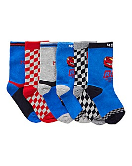 Pack of six Cars Socks