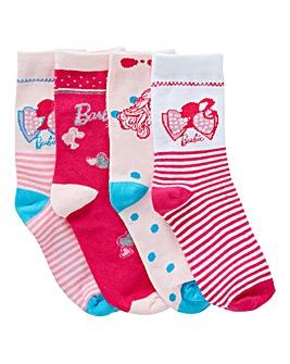 Barbie Pack of Four Socks