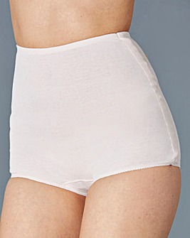 5 Pack Cotton Comfort White Briefs