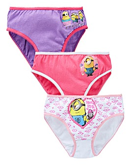 Minions Pack of Three Knickers
