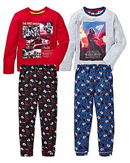 Boys Pack of Two Star Wars Pyjamas