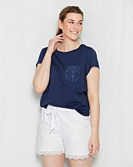 Broderie Anglais Shortie Pyjama Set