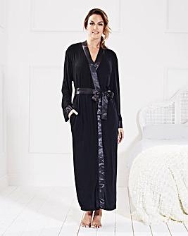 Pretty Secrets Satin Trim Gown