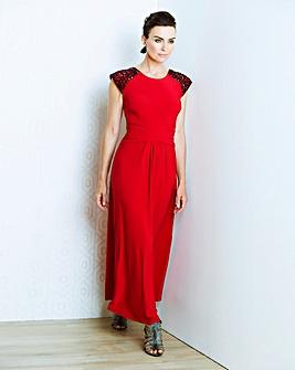 JOANNA HOPE Jet Jewel Trim Maxi Dress