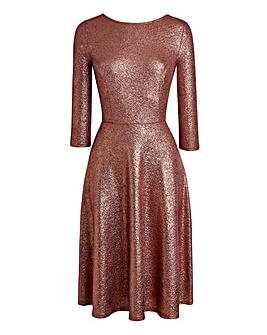 JOANNA HOPE Bow Back Metallic Dress