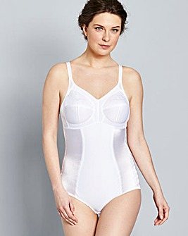 Dotty Firm Control White Pantee Corselet