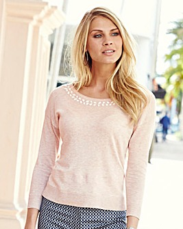 JOANNA HOPE Bead Trim Jumper