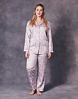 JOANNA HOPE Printed Satin Pyjama Set