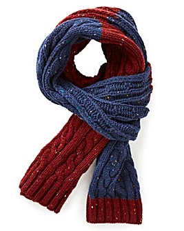 Williams & Brown Cable Knit Nep Scarf
