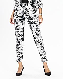 JOANNA HOPE Print Scuba Jersey Trousers