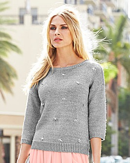 JOANNA HOPE Metallic Embellished Jumper