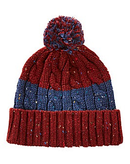Williams & Brown Cable Knit Nep Hat