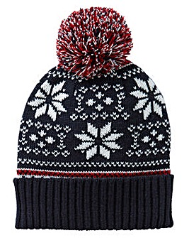 Label J Fairisle Bobble Hat