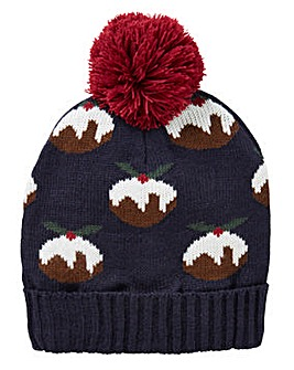 Label J Christmas Pudding Bobble Hat