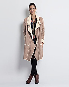 Together Faux Sheepskin Coat