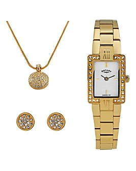Rotary Ladies Watch & Jewellery Set