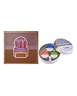 Vaseline Lip Tin & 6 Piece Lip Set BOGOF