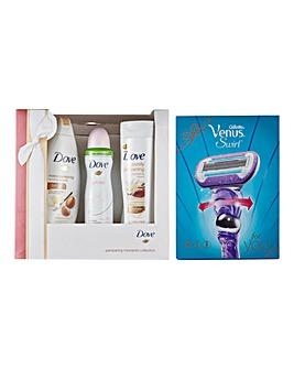 Dove Gift Set & Gillette Venus Set BOGOF