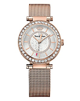 Juicy Couture Ladies Rose Tone Watch