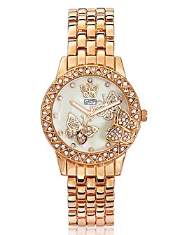 Butterfly Gold-tone Bracelet Watch