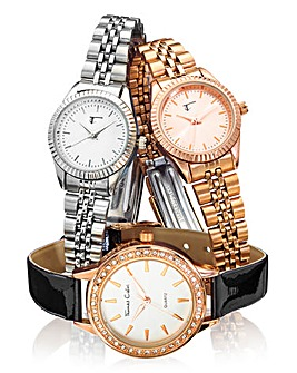 Ladies Trio Bracelet Watch Set