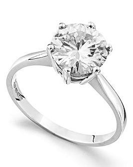 Moissanite 9 Carat Gold 3 Carat Ring