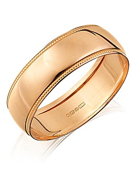 Gents 9ct Rose Gold Wedding Band