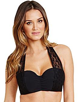 Icon Mesh Underwired Halter Bikini Top