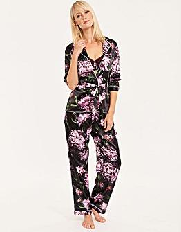 Satin Belted Pyjama Set