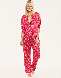 Satin Star Print PJ Set