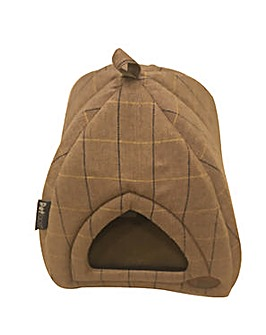 Petface Tweed Igloo Cat Bed