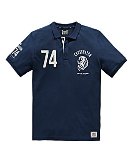 Crosshatch Roars Navy Polo
