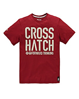 Crosshatch Huddle Tomato T-Shirt