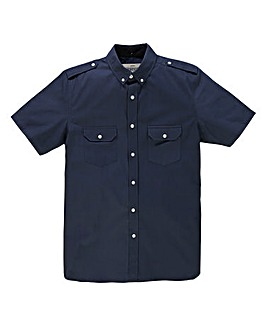 Jacamo S/S Navy Military Shirt Long
