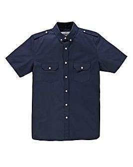 Jacamo S/S Navy Military Shirt X Long