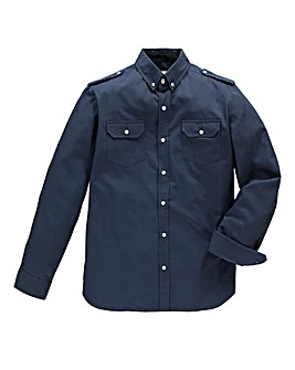 Jacamo Long Sleeve Navy Military Shirt